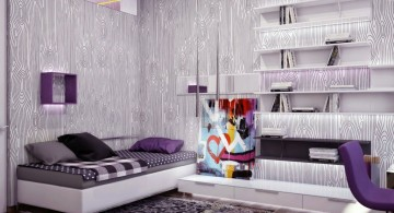 Purple wood texture Cool wall painting designs