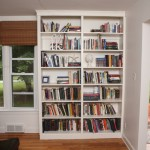 Simple vertical bookshelf decorating idea for an empty corner