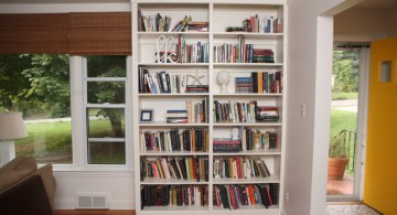 Simple vertical bookshelf decorating idea for an empty corner