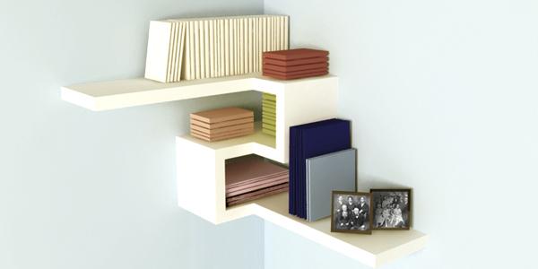 18 pretty corner shelf designs to help you tidy up - Contemporary corner shelves ...