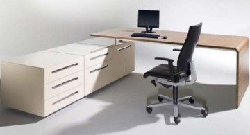 Sleek lane desk for modern and minimalist home office