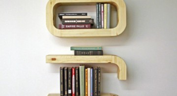 Unique DIY floating bookshelf decoration