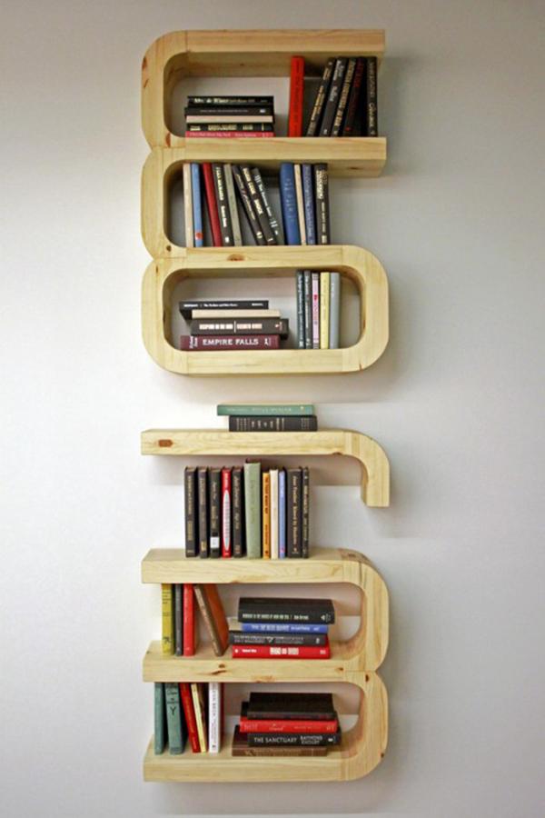 Creative Diy Bookshelves ~ Unique diy floating bookshelf decoration