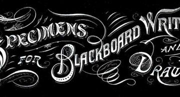 Vintage typeface for chalkboard writing ideas