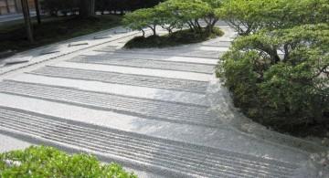 Zen style Japanese garden backyard design
