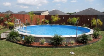 above ground circular tiny swimming pools