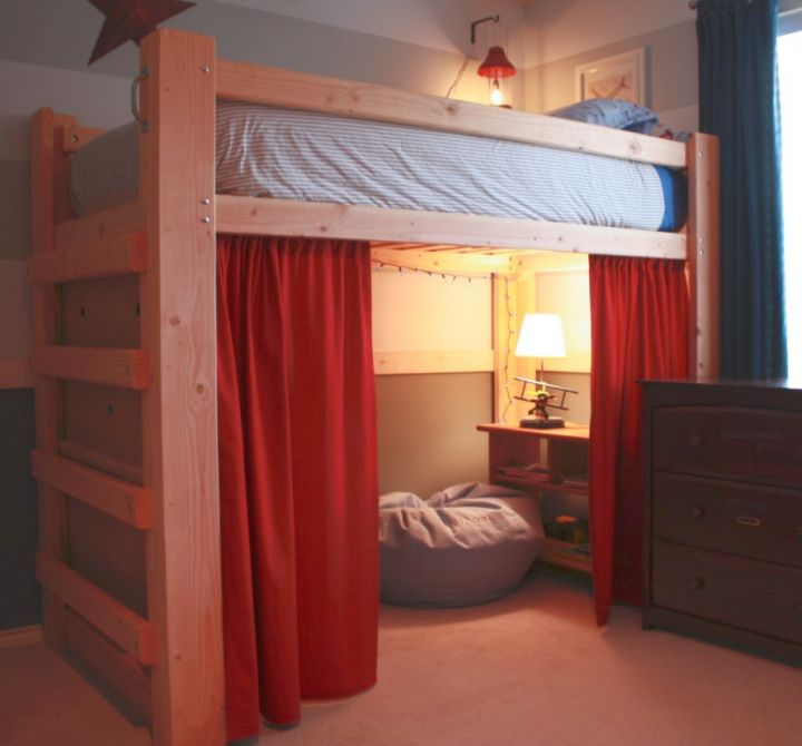 19 cool adult loft bed with stairs designs for Bunk bed design ideas