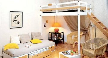 adult loft bed with stairs with daybed