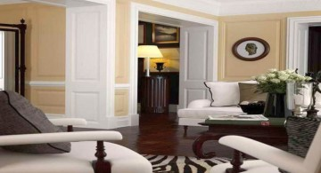 african living room decor in cream and white walls