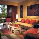 african living room decor outlooking the porch