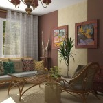 african living room decor with rattan furniture