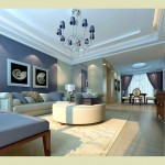 all blue living room pastel-colored room designs