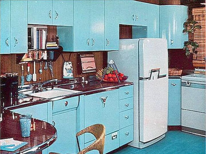 20 classy vintage and retro kitchen designs for Kitchen designs vintage