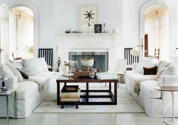 art deco living rooms in all white theme