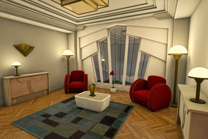 Charming So, What Do You Think About Art Deco Living Rooms With Red Sofas And Unique  Wall Above? Itu0027s Amazing, Right? Just So You Know, That Photo Is Only One  Of 19 ...