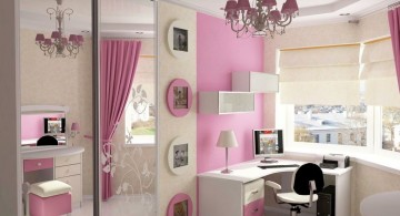 awesome rooms for girls with vintage lamp and pink wall