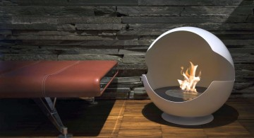 ball shaped freestanding fireplaces designs