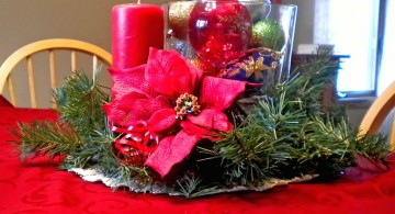 beautiful bowl centerpiece ideas for Christmas