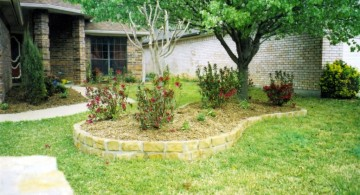 beautiful raised stones for flower beds