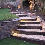 beautiful stones for flower beds with stone stairs