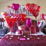 bedroom decoration for valentines day with balloons
