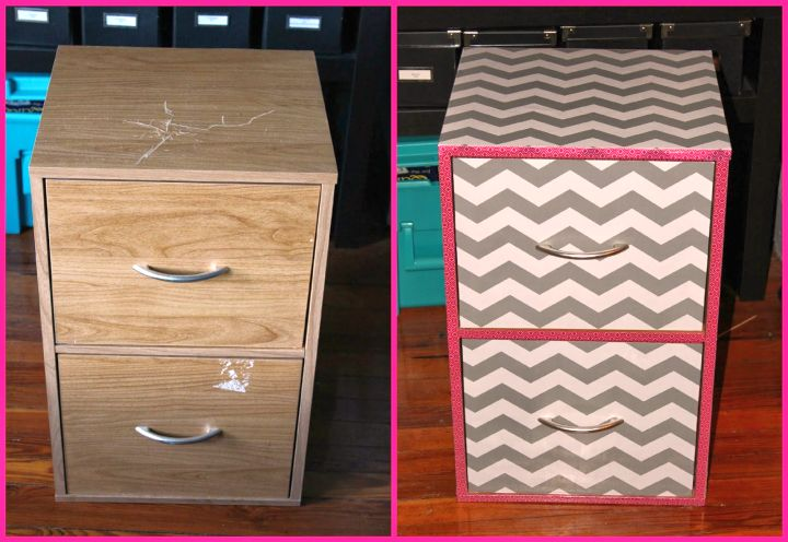 before and after contact paper furniture