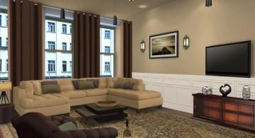 beige living room walls for condominium