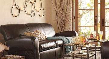 beige living room walls with side doors