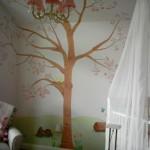 big sakura tree cool painting ideas for bedrooms