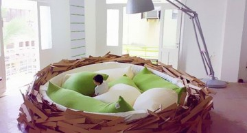 bird nest unique beds for girls