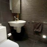 black bathrooms ideas with textured wall