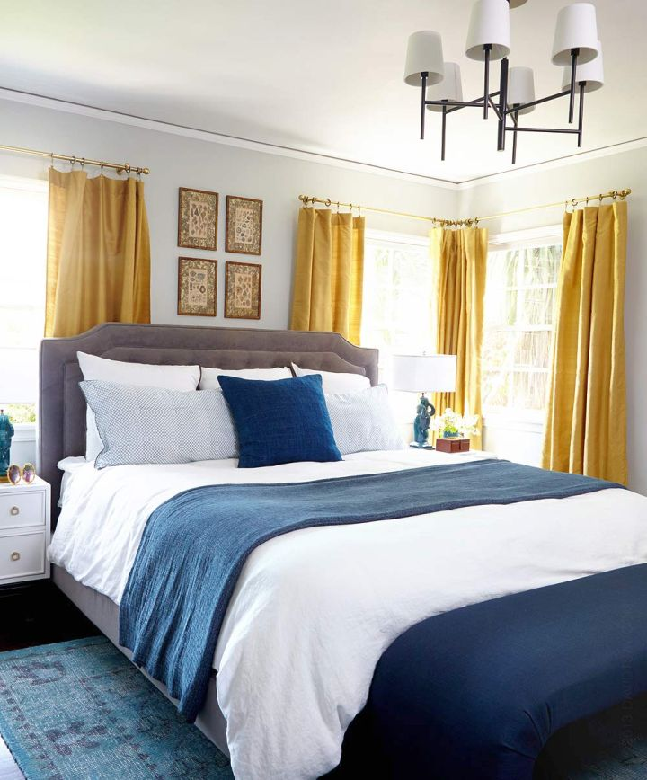 Gallery For Blue And Gold Bedroom Designs