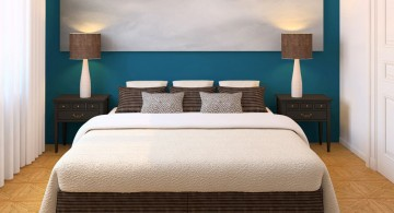 blue and white relaxing paint colors for bedrooms