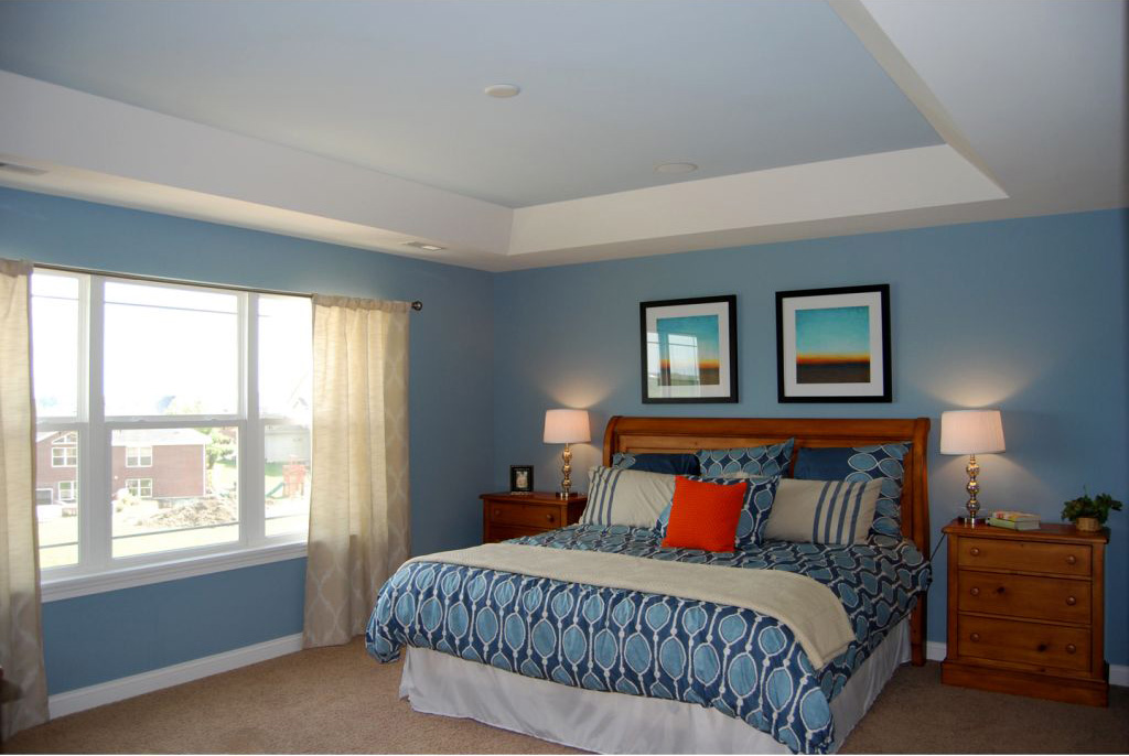 20 elegant modern tray ceiling bedroom designs for How to paint a bedroom ceiling