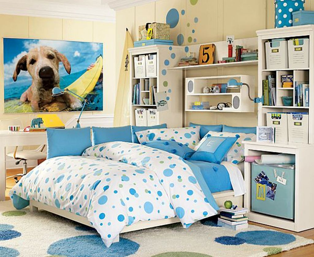 blue dalmatian teenage girls room inspiration designs
