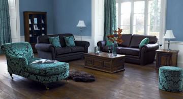 blue furniture modern painted floors inspiration