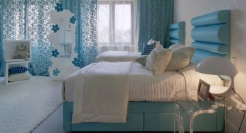 blue lace teenage girl curtain designs