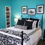 blue relaxing paint colors for bedrooms with monochrome linen