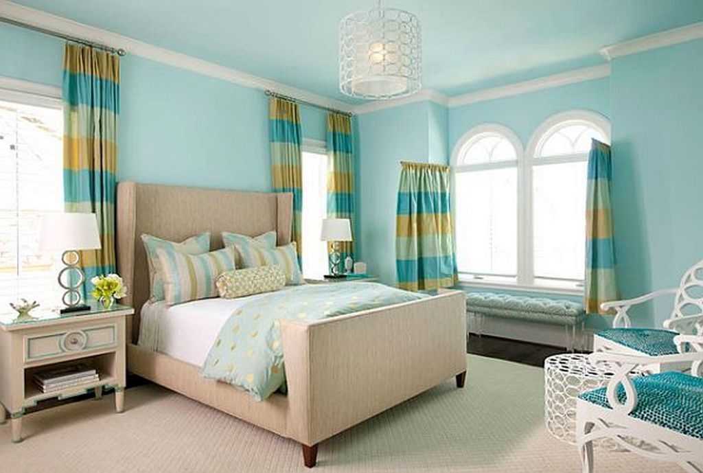 blue themed teenage rooms ideas