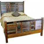 blue toned rustic bed plans