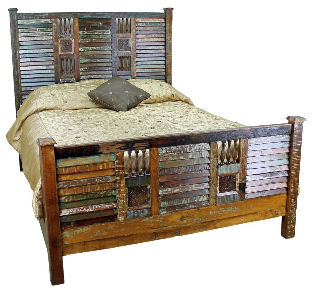 20 wooden rustic bed plans for sweet brownie atmosphere for Rustic bed plans