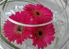 bowl centerpiece ideas with floating flowers