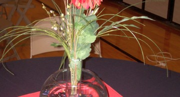 bowl centerpiece ideas with tall flower