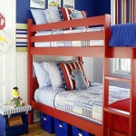 boys blue room with bunk beds