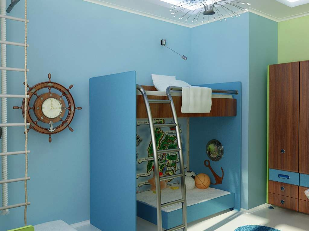 Nautical themed bedroom for boys - Bedroom Themes Boys Gallery For Boys Blue Room Design Ideas