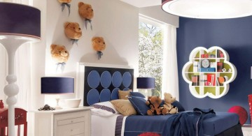 boys blue room with teddy bears