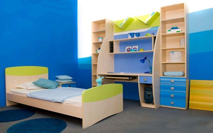 boys room paint ideas in blue gradation