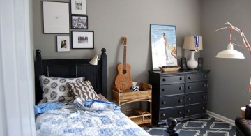 boys room paint ideas in grey with blue rug