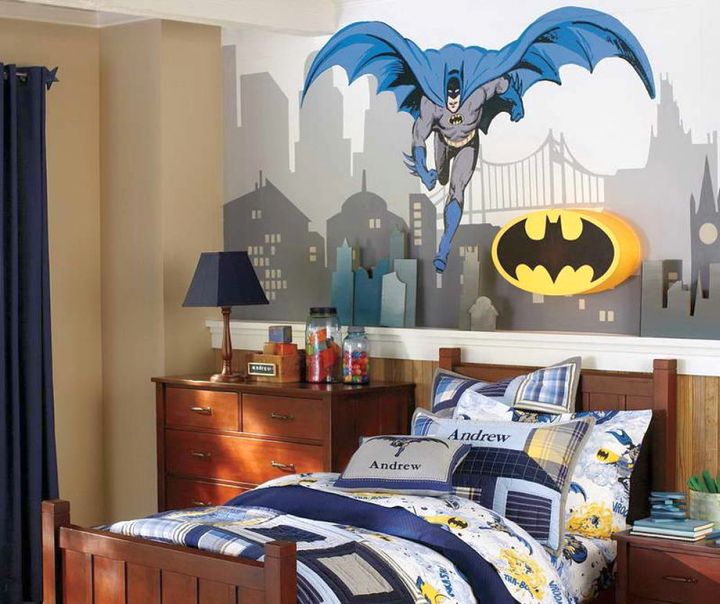 18 joyous paint color ideas for boys rooms for Baby mural ideas