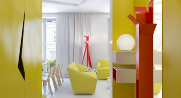 bright colored modern hallway decorating ideas